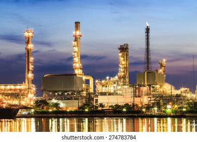Oil refinery at Bangkok Thailand