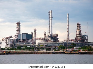 Oil refinery factory at  Bangkok Thailand