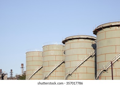 Oil refinery industry for factory background design