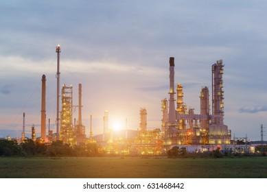 Oil refinery industry on green field