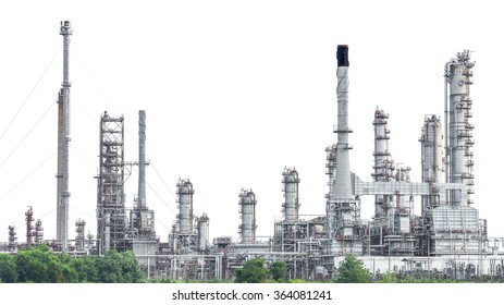 Oil refinery isolated on white background