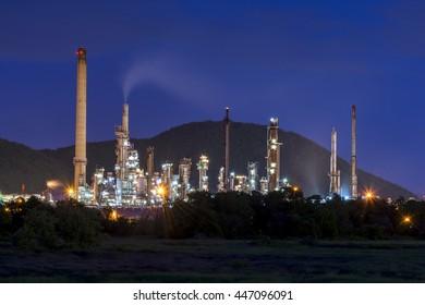 Oil refinery landscape