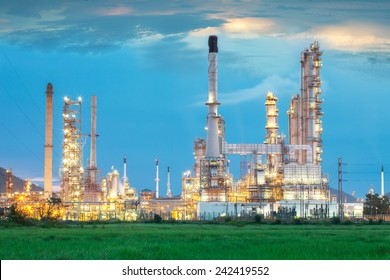 Oil refinery in the middle of field (Thailand)