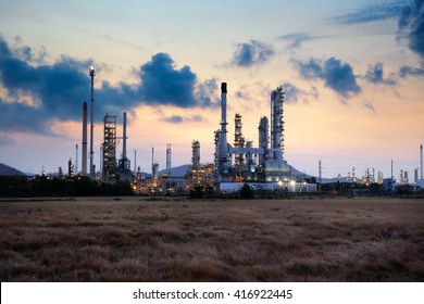 Oil refinery at morning