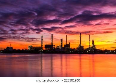 Oil refinery the morning light