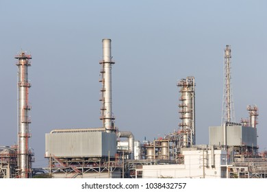 oil refinery plant with sky background