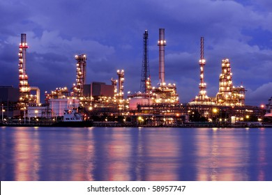 Oil Refinery At Twilight 2