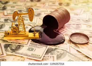 oil refining, a barrel of oil, US dollars. purchase, sale, production of oil. petroleum industry.