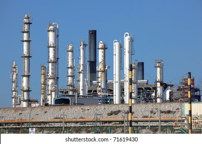 Oil refining facility in Lavera southern France