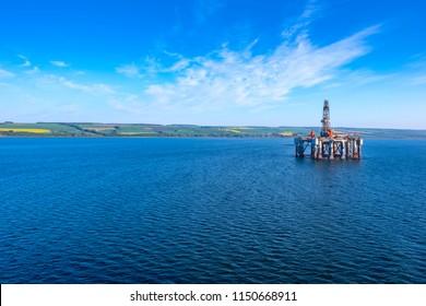Oil Rig at Cromarty Firth in Invergordon, Scotland, UK