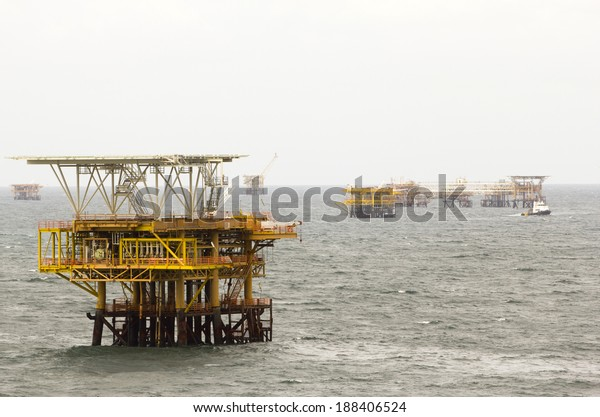Oil rigs in the South China Sea