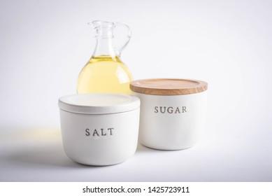 oil, salt, sugar, unhealthy nutrition image