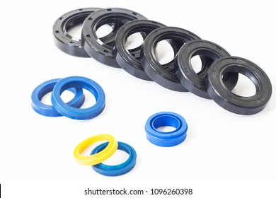 Oil seal for hydraulic cylinders for Industrial on white background.