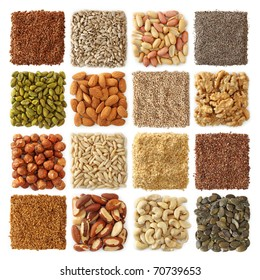 Oil seeds and nuts collection