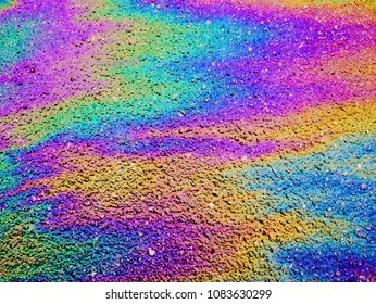 Oil Slick. Vibrant colored texture, abstract background.
