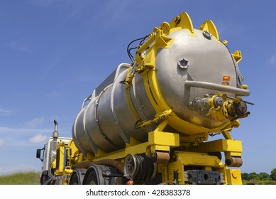 Oil spill response ,Vacuum truck  for emergency oil spill  refinery oil plant  close up.