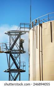 Oil Storage Blast Cleaning