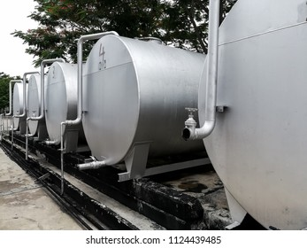 Oil tank in factory to store oil or fluids for use in the plant