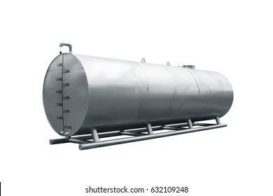 Oil tank, isolated on white