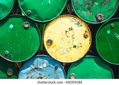Oil Tank Old Grunge Dirt Feeling Danger of Industrial Chemical.