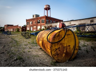 Oil Tank on Industrial Site