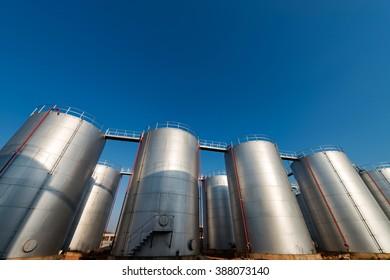 Oil tank in the refinery
