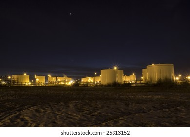 Oil Tank Reserve at Night