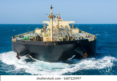 The oil tanker in the high sea