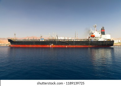Oil tanker loading in new port of Aqaba, Jordan