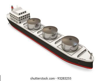 Oil Tanker on white background