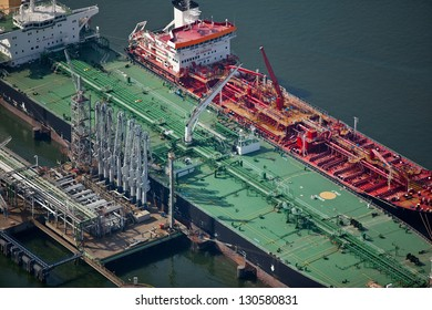 Oil tanker in port