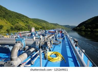 Oil tanker, river Mosel, Germany