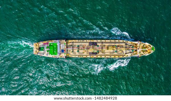 Oil Tanker Ship Sea Singapore Stock Photo (Edit Now) 1482484928