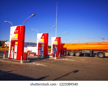Oil tankers at Gas Station And Convenience Store