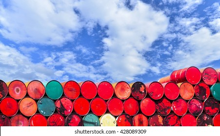oil tanks stacked in a row
