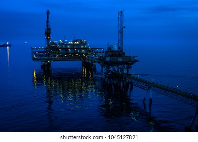 Oil Terminal loading crude oil to tankers