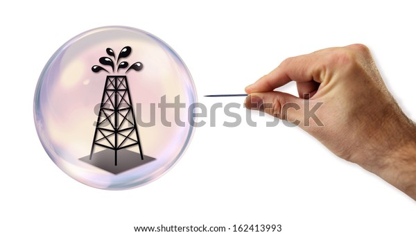 Oil value Bubble about to explode by a needle