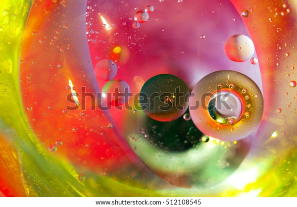 Oil Water Food Coloring Dye Few Stock Photo Edit Now 512108545