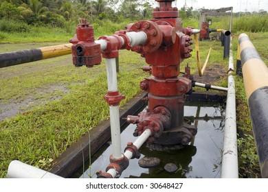 Oil well in the Ecuadorian Amazon