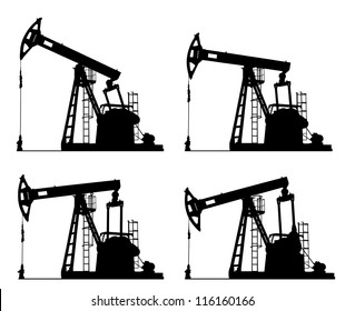 oil well pump jack silhouette isolated