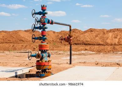 Oil Wellhead, Orenburg region, Russia