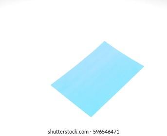 Oil-blot sheet paper on white background