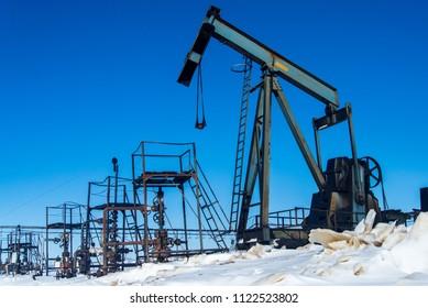 The oil-producing platforms, Rosneft, Russia, Khanty-Mansi Autonomous Okrug, Rainbow City, March 2017