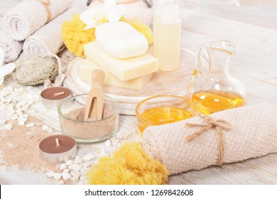 oils for a home spa, pumice