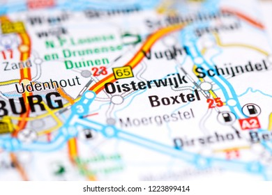 Oisterwijk. Netherlands on a map