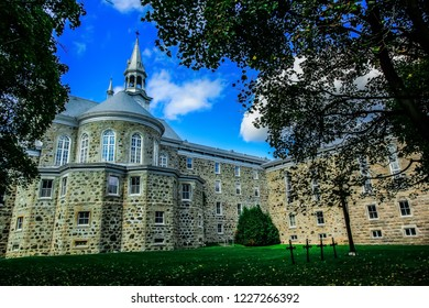 Oka, Quebec / Canada - October 2018: The Abbey of Notre-Dame du Lac, known as the Oka Abbey, was a Trappist Cistercian monastery. At its peak, the monastery housed upwards of 200 monks