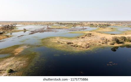 Okavango Delta aerial view, Botswana's stunning landscape