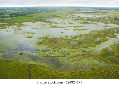 Okavango Delta from aerial, World Heritage Site, Botswana