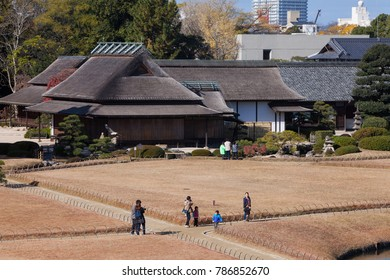 Okayama, JAPAN - December 1, 2017: Okayama Korakuen Garden, One of Japan three most celebrated gardens.