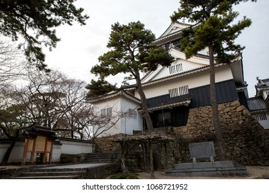 Okazaki Castle in Okazaki park in the evening, Aichi, Chubu, Japan, Sunday 18 March 2018